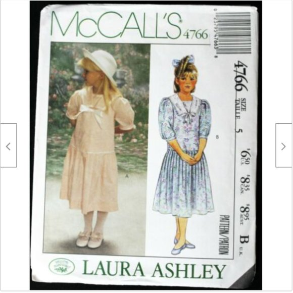 1990 McCall's 4766 Crafts Laura Ashley Clothes 12